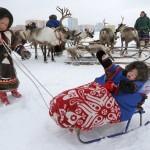 驯鹿森林图片集Arctic{摄影集9#}驯鹿牧民节的盛况图记的图片 第6张